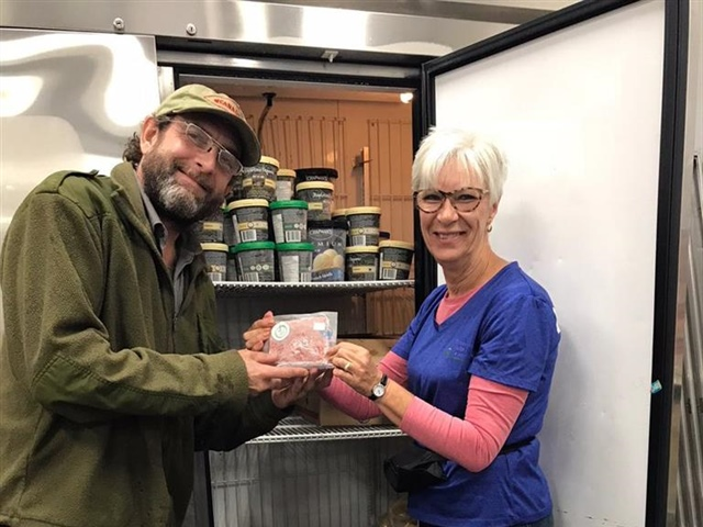 Friends of the Foodbank, Ontario pork donation