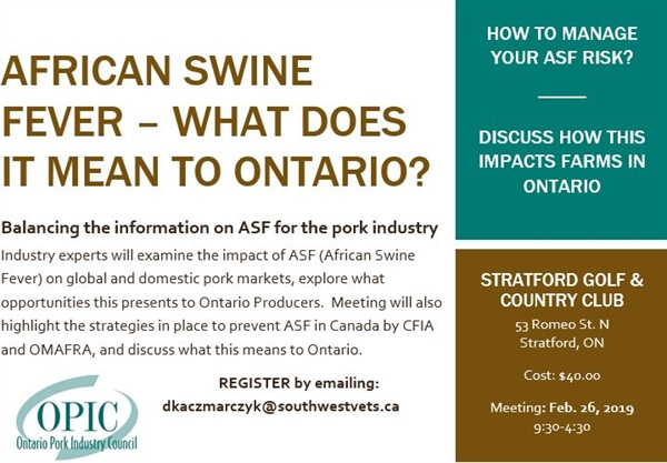 AFRICAN SWINE FEVER – What does it mean to Ontario?