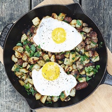 Breakfast sausage hash... and a solution to leftovers