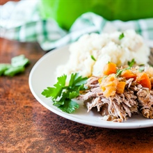 Apple cider-braised pork shoulder... and a perfect pairing for fall