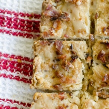 Maple, Bacon and Pecan Shortbread Bars... and elevating your holiday baking
