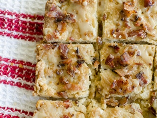Maple, Bacon and Pecan Shortbread Bars