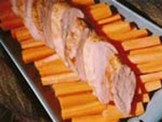 Pork Tenderloin with Cider-Glazed Carrots