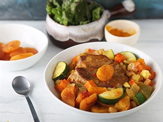 Pork Chop Tagine with Apricots
