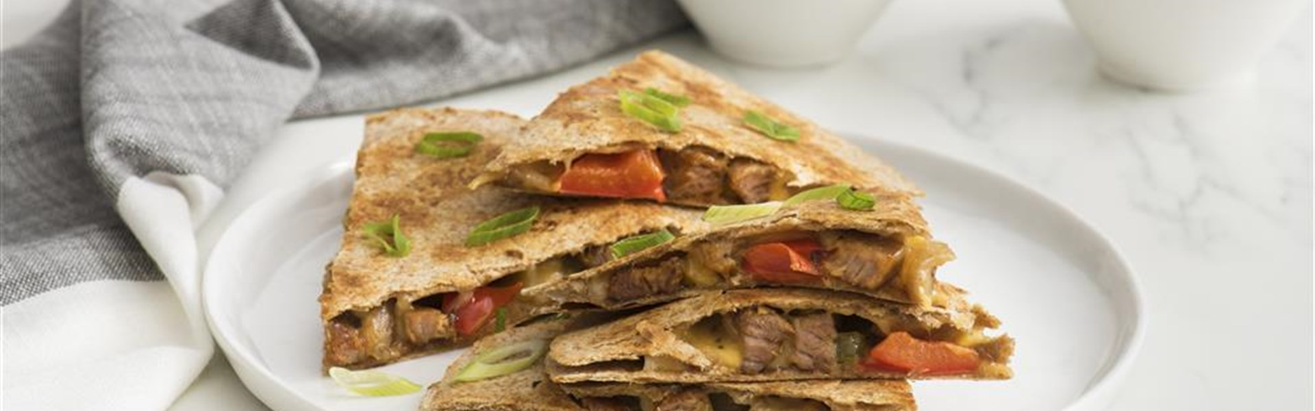 Pork and Pepper Quesadillas