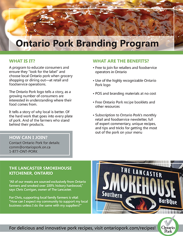 Ontario Pork Branding Program