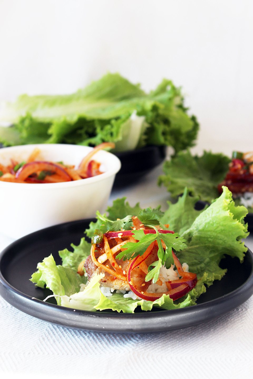 Korean Pork Belly Lettuce Wraps