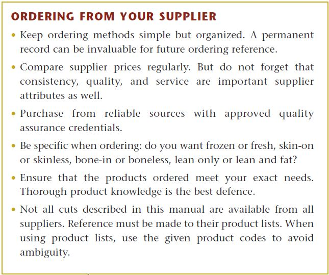 Ordering From Your Supplier