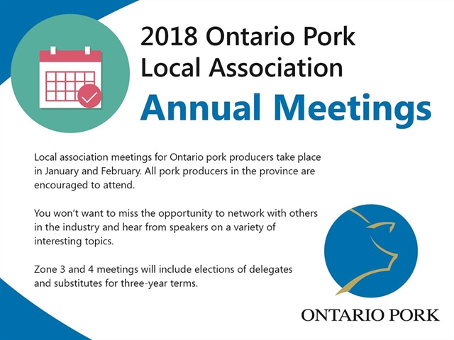 Ontario Pork's Local Association Annual Meetings