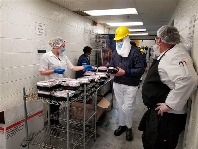 Ontario pork producers give back to front-line workers at Sofina processing plant