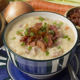 Ham & potato soup... and the grab-and-go meal