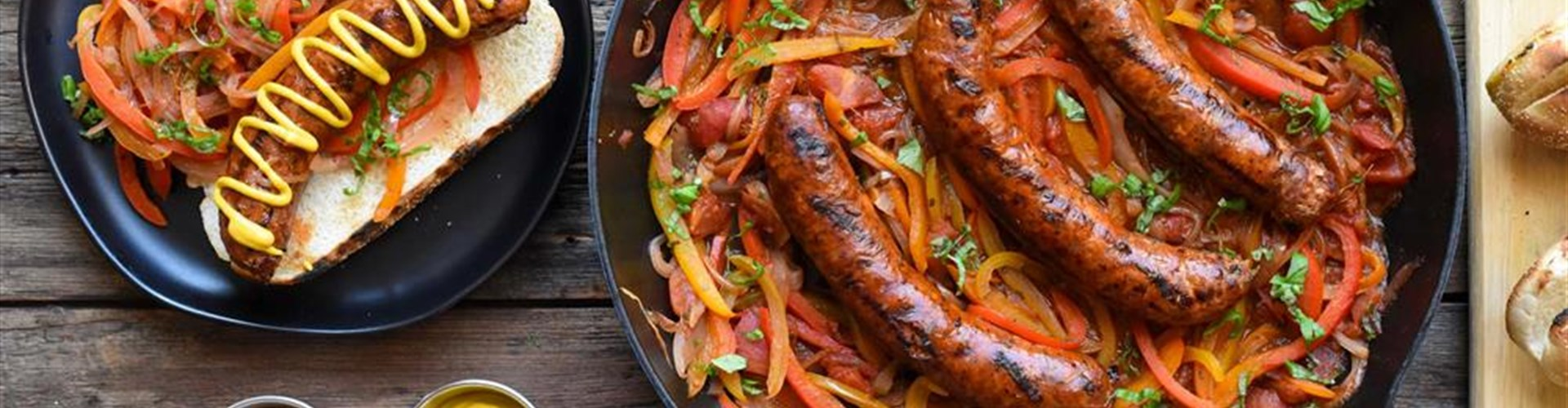 Hot Italian Sausage with Peppers and Onions