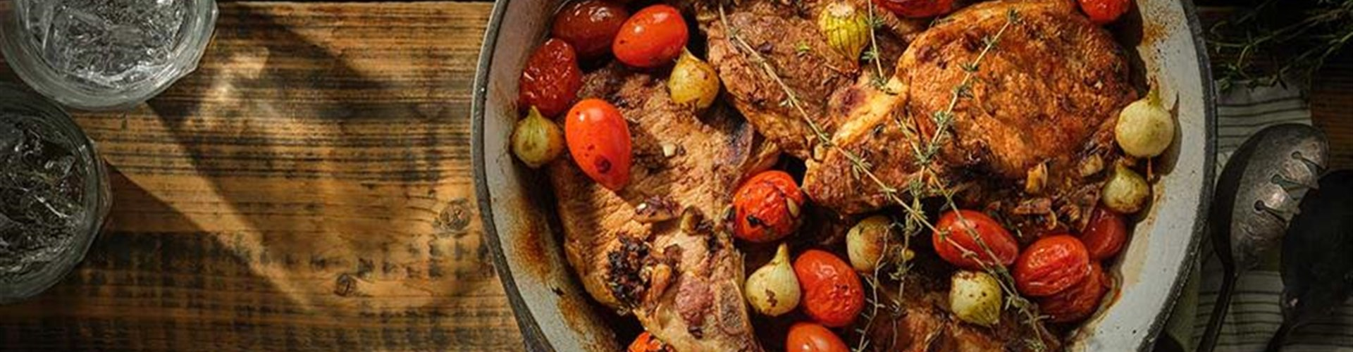 Balsamic Pork Chops and Tomatoes