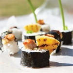 Pork belly & pineapple sushi