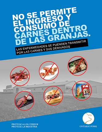 No Meat in Barns - Spanish